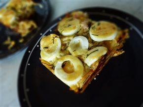 Zapekané cestoviny so syrom a vajcom na tvrdo