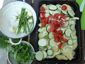 Zapekaná zelenina so syrom - geniálna cuketa a tekvica