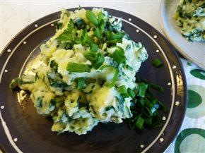 Jarná zemiaková kaša so špenátom – špenátový stamppot