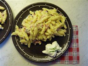 Zemiakové šúlance s bryndzou a slaninkou